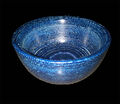 blue jean in epoxy resin bowl