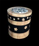 mixed media, wood, box, maple, unakite