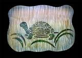 wood, mixed media, maple, turtle, calcite, epoxy, inlay