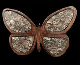 poplar butterfly stained brown with unakite wing insets