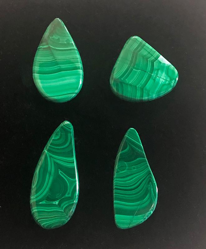 Malachite cabochons