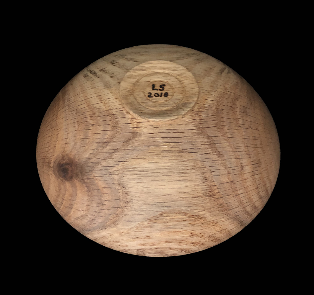 white oak bowl